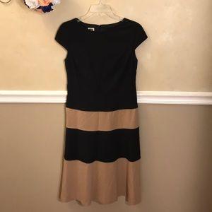 Anne Klein striped color block fit & Flare dress